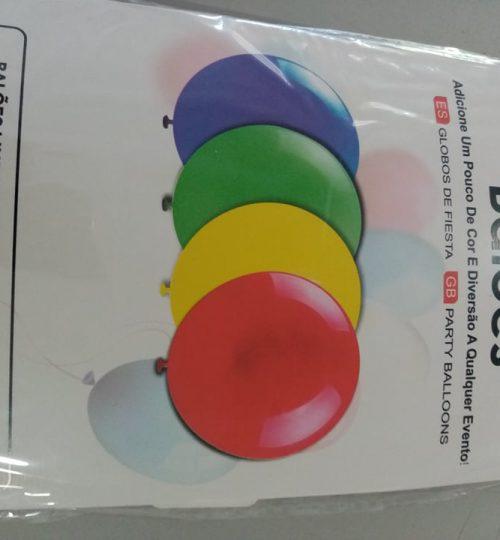 balão multicor