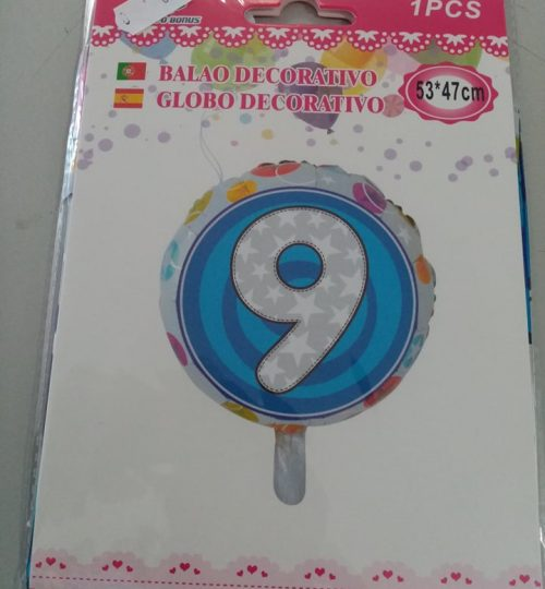 balão 9 redondo